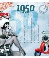 Verjaardagskaart met geboorte jaar 1950