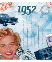 Verjaardagskaart met geboorte jaar 1952