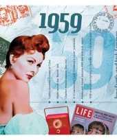 Verjaardagskaart met geboorte jaar 1959