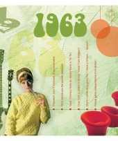 Verjaardagskaart met geboorte jaar 1963