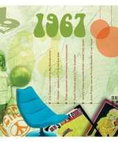 Verjaardagskaart met geboorte jaar 1967
