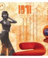 Verjaardagskaart met geboorte jaar 1971