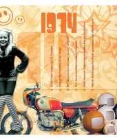 Verjaardagskaart met geboorte jaar 1974