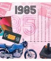 Verjaardagskaart met geboorte jaar 1985