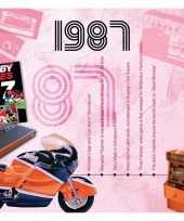 Verjaardagskaart met geboorte jaar 1987