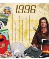 Verjaardagskaart met geboorte jaar 1996
