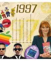 Verjaardagskaart met geboorte jaar 1997