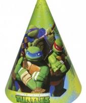 Verjaardagspartijtje turtles thema hoedjes