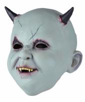 Verkleed baby satan masker van latex