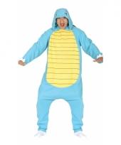 Verkleed blauwe cartoonfiguur kostuum