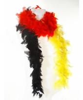 Verkleed boa rood geel zwart 180 cm