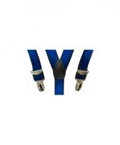 Verkleed bretels kobalt voor meisjes