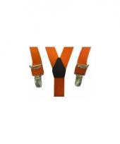 Verkleed bretels oranje voor jongens