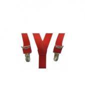 Verkleed bretels rood voor jongens