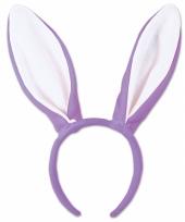 Verkleed bunny oren paars wit