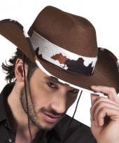 Verkleed cowboyhoeden texas met koeienprint