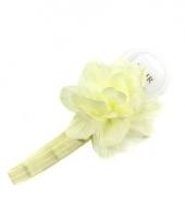 Verkleed diadeem wit met bloem voor meisjes