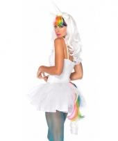 Verkleed eenhoorn set regenboog voor dames