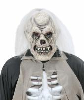 Verkleed eng skelet masker van latex