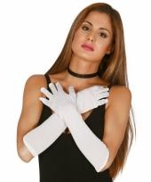 Verkleed gala handschoenen wit