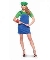 Verkleed groene loodgieter jurk voor dames