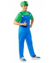 Verkleed groene loodgieter pak voor heren