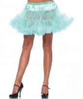 Verkleed korte petticoat mint groene voor dames