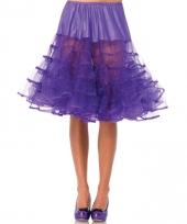 Verkleed lange petticoat paars voor dames 10082425