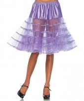 Verkleed lange petticoat paars voor dames