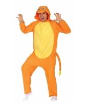 Verkleed oranje cartoonfiguur kostuum