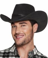 Verkleed uxe cowboyhoeden wyoming bruin met lederlook
