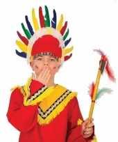 Verkleedaccessoire indianen hoofdtooi voor kids