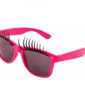 Verkleedbril wimpers roze