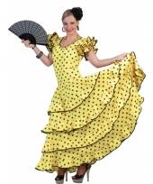 Verkleedkleding gele flamenco jurk