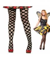 Verkleedkleding net panty zwart 10064154