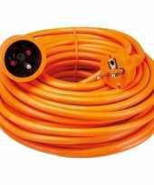 Verlengsnoer penaarde oranje van 20 meter