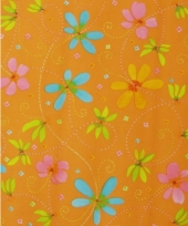 Verpakkings papier bloemetjes print 13