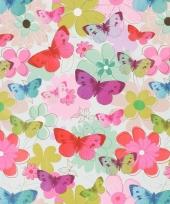 Verpakkings papier bloemetjes print 25