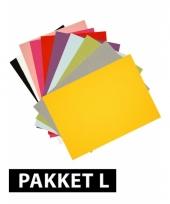 Verschillende kleuren a4 karton 72x