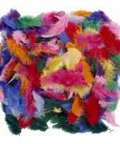 Verschillende kleuren veren 50 gram