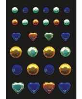 Versier stickers blauwe gele en groene strass