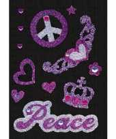 Versier stickers peace strass