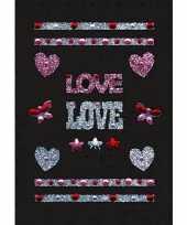 Versier stickers strass liefde