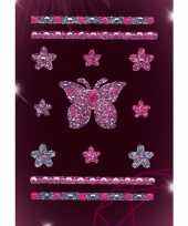 Versier stickers vlindertje strass