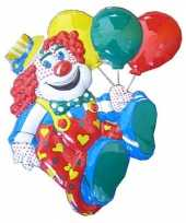 Versiering clown met ballonnen 50cm