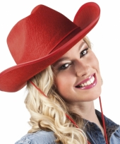 Vilten cowboyhoed rood