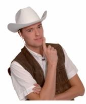 Vilten cowboyhoed wit