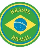 Viltjes met braziliaanse vlag opdruk