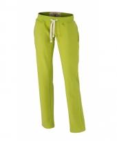 Vintage joggingbroeken lime groen met zakken voor dames