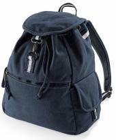 Vintage marineblauwe rugzak 18 l 10041010